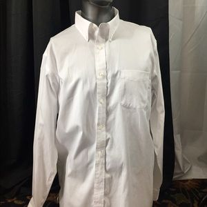 Quality white tall shirt by Lands End in 171/2/37.